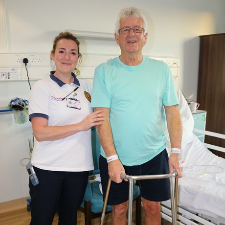 Hip replacement surgery patient